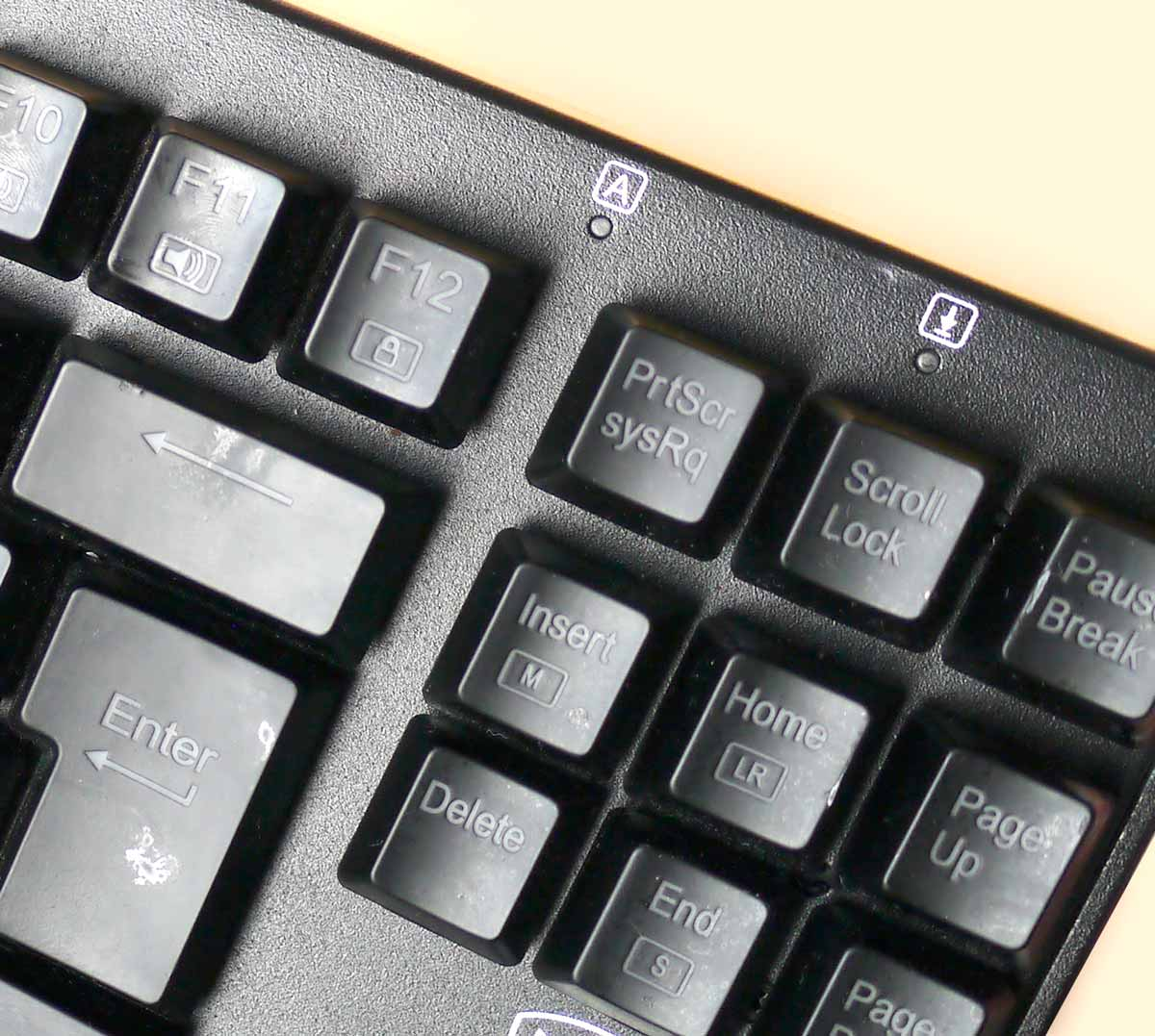 Scroll Lock and Caps Lock indicator