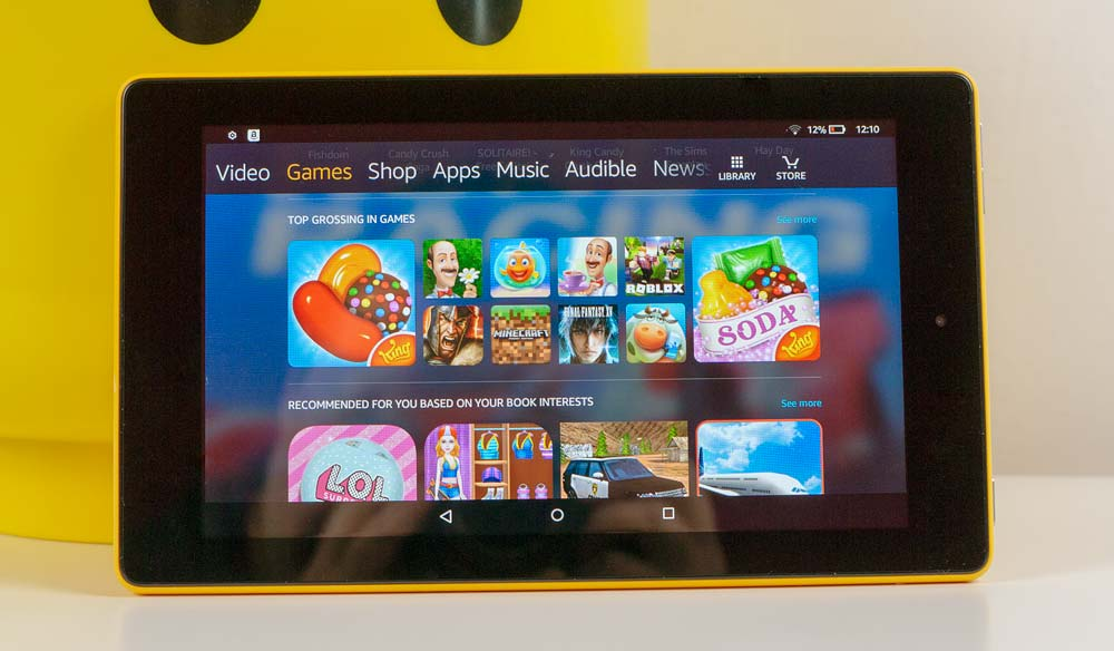 Amazon Fire 7 Review - Games screen