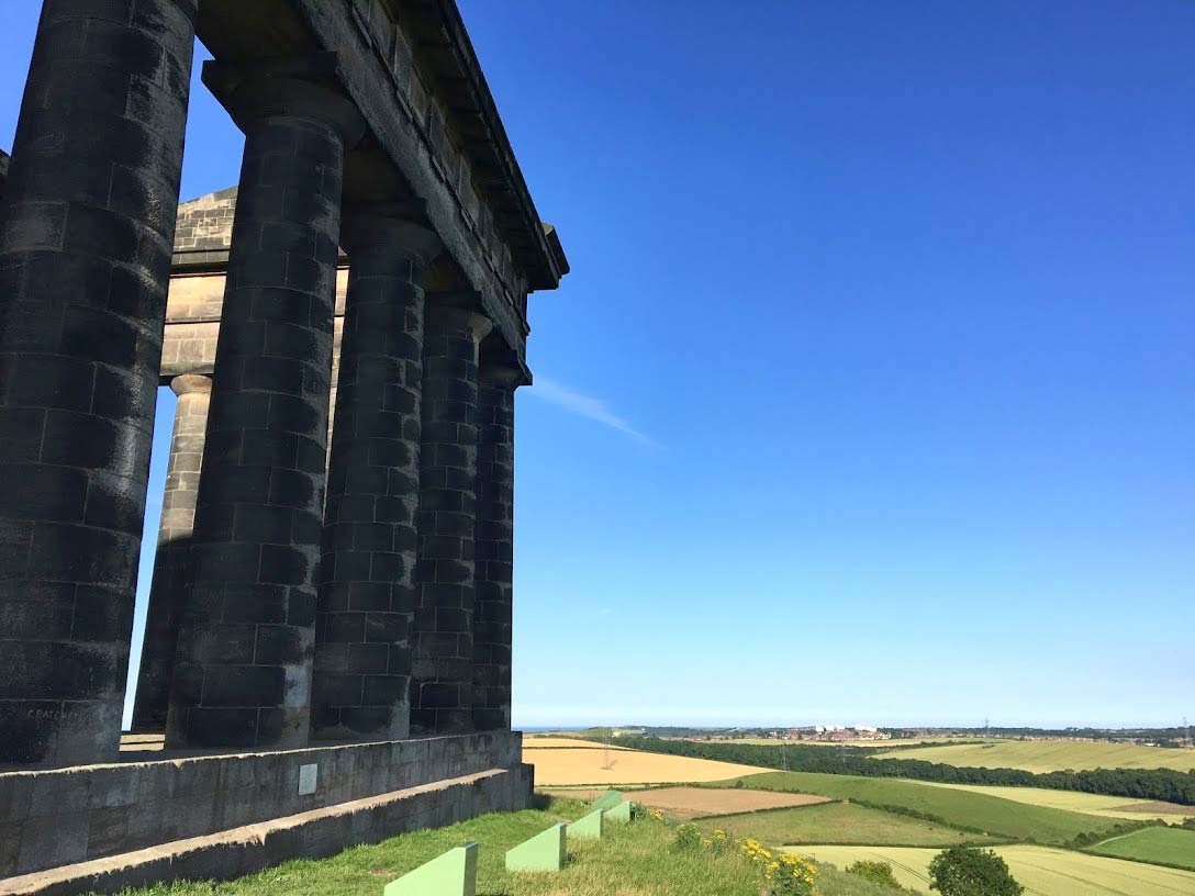 Penshaw Monument Sea View wetryanything