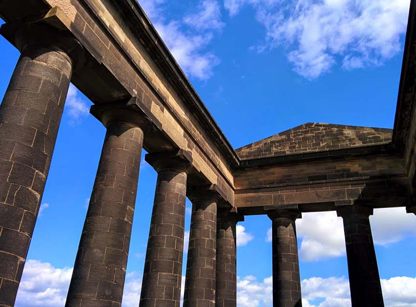 Penshaw Monument Roof - wetryanything