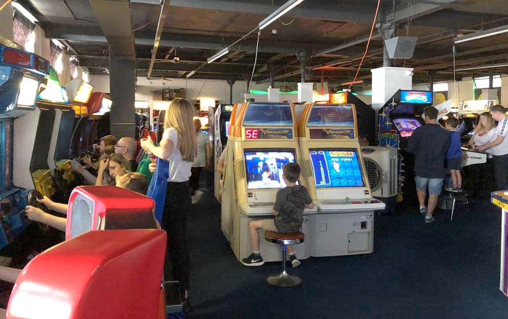 Arcade Club Review - Classic Arcade Floor