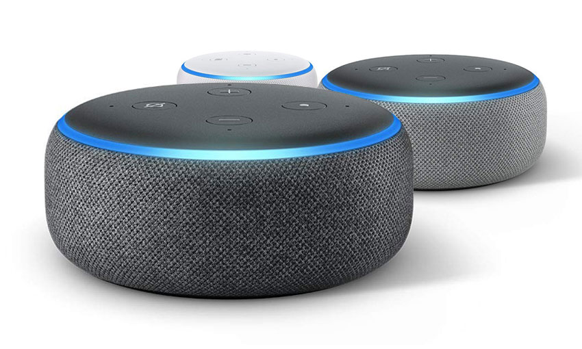 Amazon Echo Dots 3 colours