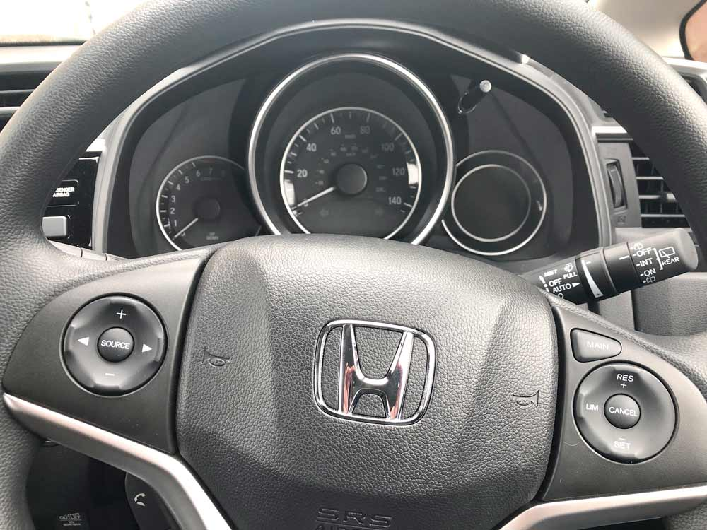 2019 Honda Jazz Review - Steering Wheel and Speedometer